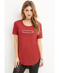 Forever 21 | Purple No Basic Longline Tee | Lyst