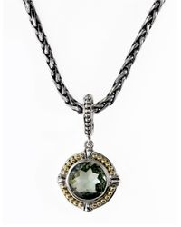 Effy | Green Balissima 18k Yellow Gold Sterling Silver And Amethyst Pendant Necklace | Lyst
