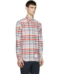Thom Browne - Multicolor Plaid Shirt for Men - Lyst