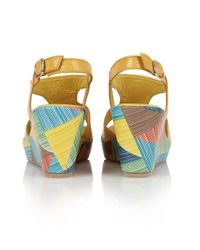 Lotus - Yellow Dandy Wedge Sandals - Lyst