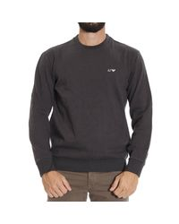 Armani Jeans | Blue Sweater Fleece Crewneck Logo for Men | Lyst