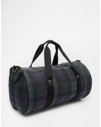 Fred Perry - Blue British Millerain Barrel Bag for Men - Lyst
