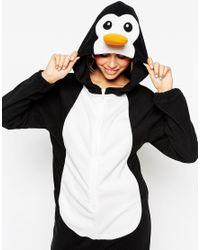 ASOS - Black Christmas Penguin Onesie - Lyst