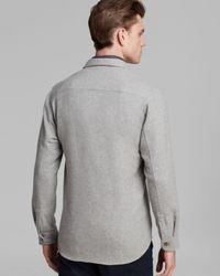 Steven Alan - Gray Double-Pocket Shirt Jacket for Men - Lyst