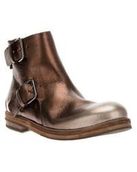 Marsèll | Brown Marsèll Buckled Ankle Boot | Lyst