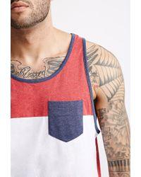 Forever 21 | Red Colorblock Pocket Tank for Men | Lyst