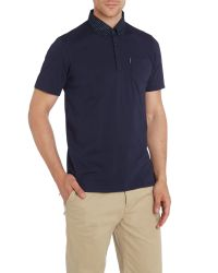 Ben Sherman - Blue Plain Polo Regular Fit Polo Shirt for Men - Lyst