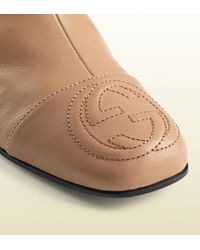 Gucci | Pink Soho Leather Ankle Boot | Lyst