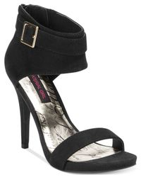 Material Girl - Black Goldie Two Piece Cuffed Sandals - Lyst