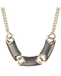 Alexis Bittar - Gray Vert D'Eau Chevron Link Necklace - Lyst