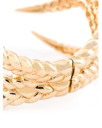 Eshvi - Metallic 'Braid 10' Cuff - Lyst