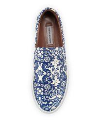 Tabitha Simmons - Blue Huntington Floral-Print Slip-On Sneakers - Lyst