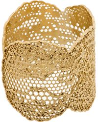 Aurelie Bidermann - Metallic Gold Vintage Lace Cuff - Lyst