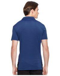 Polo Ralph Lauren | Blue Striped Performance Lisle Polo Shirt for Men | Lyst