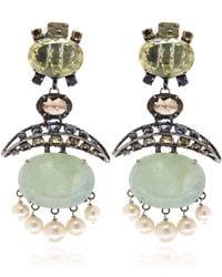 Iradj Moini - Blue Aquamarine And Pearl Drop Earrings - Lyst
