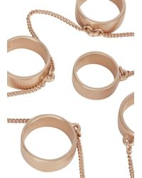 Eddie Borgo | Pink Rose Gold Tone Five Finger Ring | Lyst