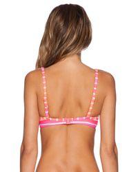 Seafolly - Multicolor Miami Stripe Sweetheart Bustier Bikini Top - Lyst