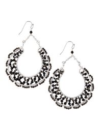 Nakamol | Black Scallop-beaded Horseshoe Drop Earrings | Lyst