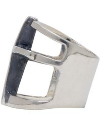 Pamela Love | Metallic Silver Cross Ring | Lyst