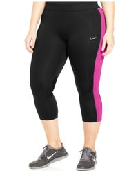 Nike | Pink Plus Size Performance Cropped Leggings | Lyst