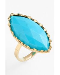 Lana Jewelry | Yellow Turquoise Marquise Ring | Lyst