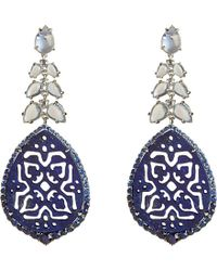 Annoushka | Blue Arabesque 18ct White-gold, Lapis, Sapphire And Diamond Earrings - For Women | Lyst