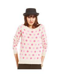 Maison Jules - Pink Polkadot Cashmere Sweater - Lyst