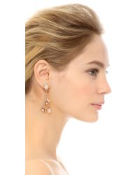 Oscar de la Renta - Metallic Coral Shaped Earrings - Lyst