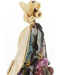 Etro - Purple Va Goldplated Tourmaline and Silk Clip Earrings - Lyst