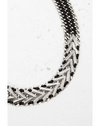 Forever 21 | Metallic Ribbon-threaded Statement Necklace | Lyst