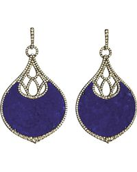 Annoushka | Blue Cloud Nine Nocturnal 18ct White-gold, Lapis Lazuli And Pavé Diamond Earrings | Lyst