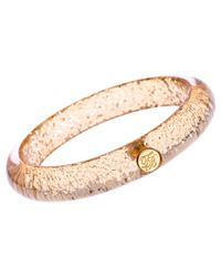 Ted Baker - Metallic Ryleey Resin White Bronze Plated Button Bangle - Lyst