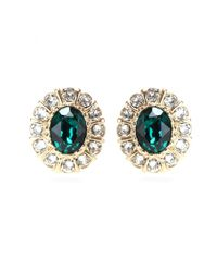 Givenchy | Green Embellished Clip-on Earrings | Lyst