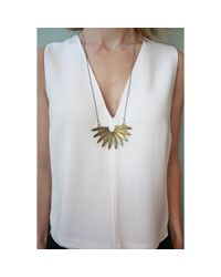 Native Rainbow   Metallic Brass Sunburst Necklace   Lyst