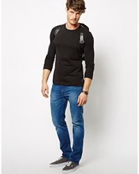 French Connection | Black Long Sleeve Top Sneezy Crew for Men | Lyst