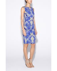 Nicole Miller | Blue Lauren Chinoiserie Dress | Lyst