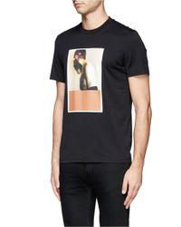 Givenchy - Black Burnt Polaroid Print T-shirt for Men - Lyst