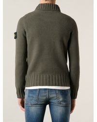 Stone Island | Green Roll Neck Sweater for Men | Lyst