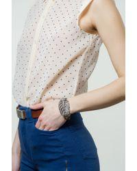 Lulu Frost - Natural Silvertone Drift Bracelet - Lyst