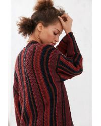 Ecote - Red Riley Patterned Maxi Sweater - Lyst