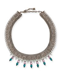 DANNIJO - Metallic Zoe Multi-chain Necklace With Crystal Spikes - Lyst