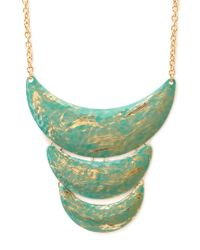 Forever 21 | Green Standout Tiered Bib Necklace | Lyst