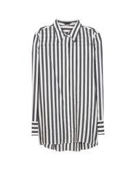 Alice + Olivia - Black Striped Shirt - Lyst