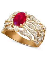 Effy Collection | Metallic Gemma By Effy Ruby (1-1/2 Ct. T.w.) And Diamond (1/3 Ct. T.w.) Ring In 14k Gold | Lyst