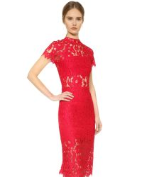 Alexis | Leona Lace Dress - Red | Lyst