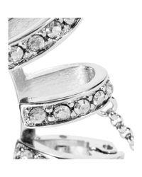 Roberto Cavalli - Metallic Embellished Clip-On Ear Cuffs - Lyst