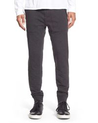 Michael Kors | Gray Leather Trim Jogger Pants for Men | Lyst
