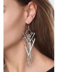 Bebe - Metallic Crystal Earrings - Lyst