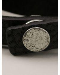 DIESEL - Black Wrap Around Bracelet for Men - Lyst