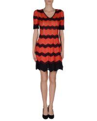 M Missoni - Red Short Dress - Lyst